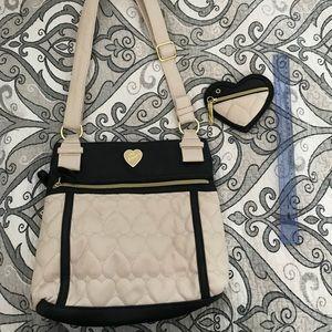 Betsey Johnson purse CREAM/BLACK crossbody